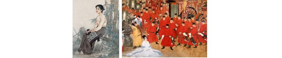 何家英:男,汉族。1957年生于天津,河北任丘人。著名国画家。1980年毕业于天津美术学院并留校任教至今。