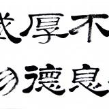 自强不息,厚德载物(隶书 138cm×69cm) (1图)