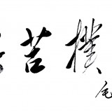 艰苦朴素(狂草100cm×55cm) (1图)